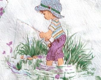 Vintage Sheet Set for Kids / Hollie Hobbie Style / children's room / kids room decor
