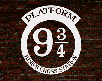 Platform 9 3/4, Platform 9 3/4 Sign, Harry Potter SVG, Harry Potter Print, Cuttable, Vinyl, Sticker, Digital File, DXF, Print, Cut File