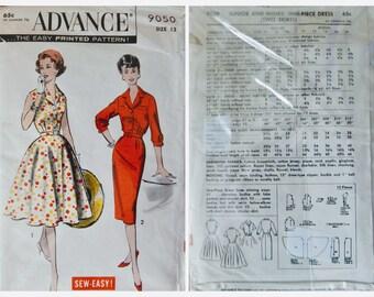 Vintage Advance 50s Jr. One-Piece Dress Pattern   9050