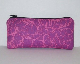 """Pipe Pouch, Pink Purple Pouch, Psychedelic, Hippie, Stoner Gift, Glass Pipes, Pipe Case, Pipe Bag, Zipper Bag, Smoke Accessory - 5.5"""" SMALL"""