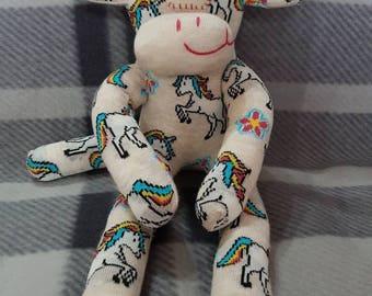 Unicorn Sock Monkey #unicorn #sockmonkey #handmade