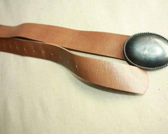 Vintage Belt with Metal Buckle - ... a Fashionista Statement Piece can fit for Size S and M