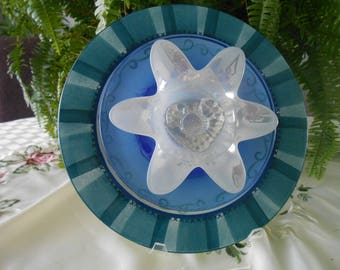 Blue and green sun catcher