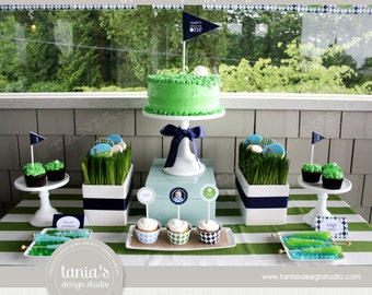 Golf Partee Printable Birthday Party Package by tania's design studio