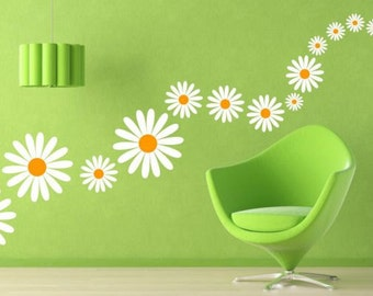 Daisies Color sticker (madeliefjes) (2629f)
