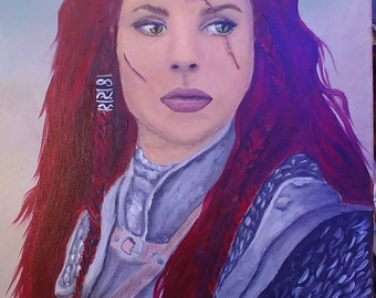 11x14 acrylic painting on canvas portrait fantasy