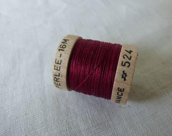 Spool of 16 meters of silk beaded No. 524