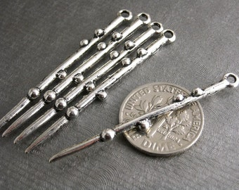 CHARM-AS-SPIKE-44MM - Unique Design Spike Charm in Antique Silver - 6 pcs