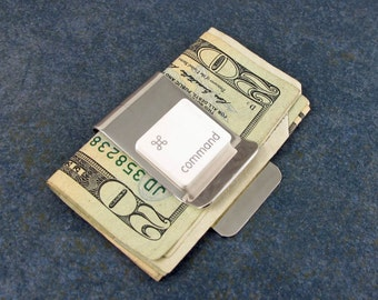 Money Clip, Apple, Mac Command Key, Recycled, Computer keyboard key, Men, Birthday, Gift