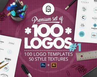 Premium-Satz von 100 Logo-Vorlagen 01