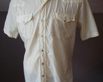 Vintage Short Sleeve Western Snap Shirt by Sears and Roebucks