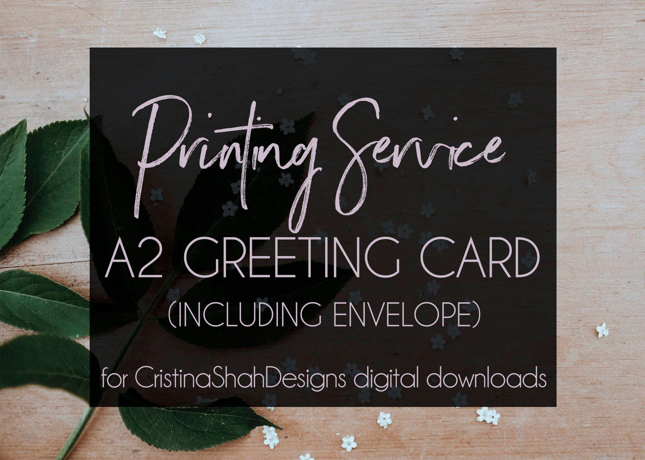Printing Service A2 55 X 425 Greeting Card