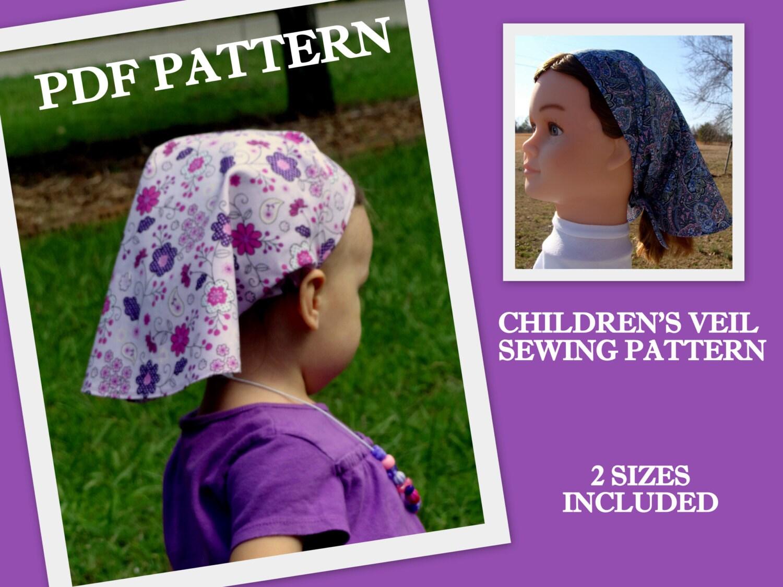 CHILDREN\'S Head Scarf Pattern PDF Hair Scarf Kerchief