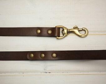 Dog Leash, Leather Dog Leash, Dog Leash Leather,  Strong Leather Dog Leash, dog lead, Rustic Brown Leather leash, Rustic leather leash