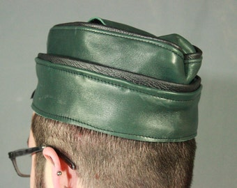 Colored Leather Garrison Cap