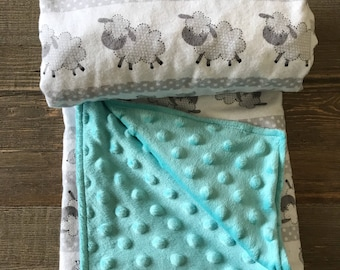 Let's count sheep stroller blanket