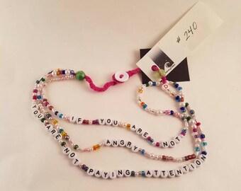 custom message necklace