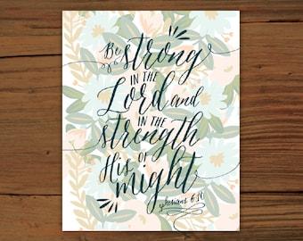 Ephesians 6:10 Print