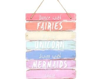 Unicorn Rainbow Plaque