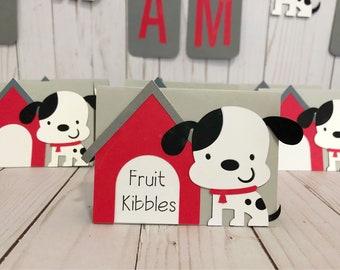 Dalmatian Food Tent Cards, Dog Food Tent Cards, Dalmatian Party Theme Food Tent Cards, Dog Party Theme Food Tent Cards