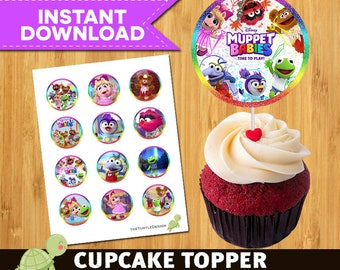 12 Muppet Babies Toppers -  Muppet Babies Package - Muppet Babies Printable Party Circles -