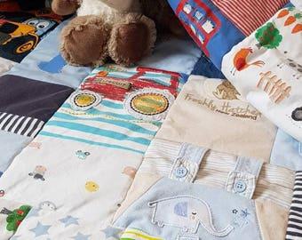 memory blanket - memory quilt - keepsake blanket - baby clothes blanket - baby blanket