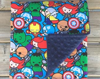 Superhero Baby Blanket, Minky Baby Blanket, Baby Blanket, Crib Blanket,