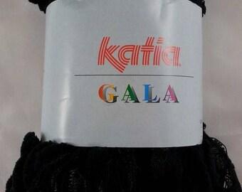 wool KATIA GALA 100 gram black ruffled effect chenille - 604