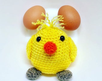 Hand made chick with crochet hook