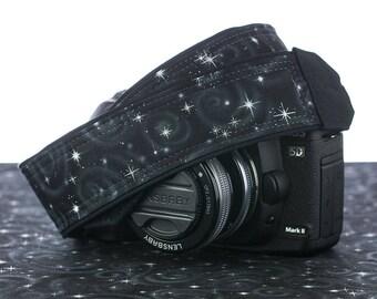 Space dSLR Camera Strap, Starfield, Stars, SLR, Pocket, Galaxy, Canon, Nikon, Photographer Gift, Neck strap, Mens camera strap,  295