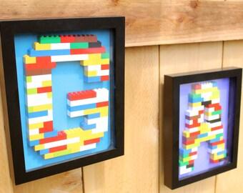 Marvelous Monogram Lego Wall Art