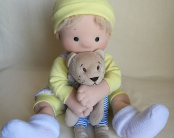 The First Doll Waldorf Doll 16 Inch Doll Waldorf Puppet Waldorf Baby Doll Textile Doll Toddler Toy Natural Rag Doll