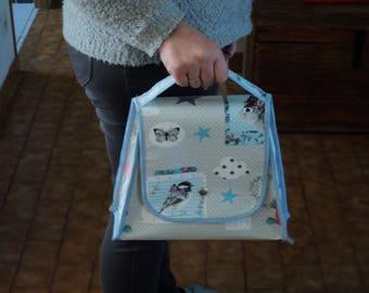 handbag or toiletry bag, baby, new, handmade, handcrafted