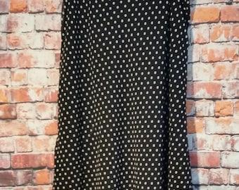 80's east 5th Polka Dots skirt, Black and White Polka Dots, Size 6