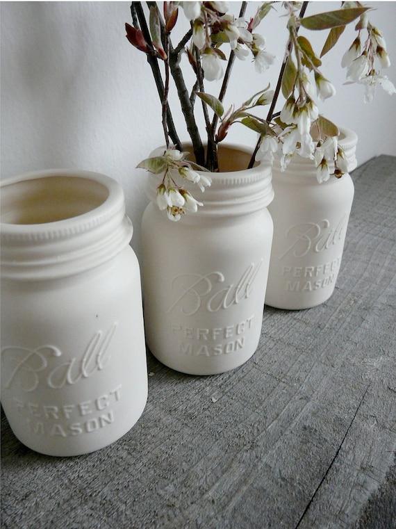 Ceramic Mason Jar Porcelain Vase