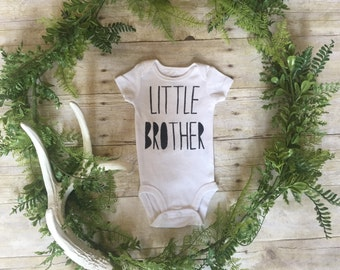 Little Brother Newborn Outfit // Little Brother Baby Shirt // Newborn Boy Gift //  Little Brother Coming Home Outfit // Little Bro Onesie