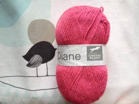 DIANE raspberry - Chevel white wool