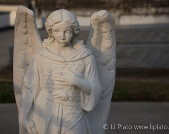 Cemetery 5, Fine Art Photography, Graveyard, Gravestone, Tombstone, Headstone, Angel, Home Decor, Gothic Wall Art