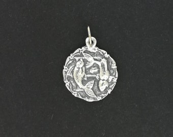 Zodiac Medallion Pieces in Sterling Silver