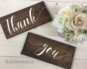 Thank You Sign // Wood Sign // Home Decor // Wedding Sign // Rustic Decor // Photo Prop