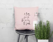 Handprinted quote pillow ...
