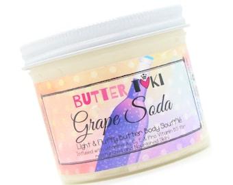 GRAPE SODA Body Butter Soufflé 4oz- Body Lotion - Vegan - Handmade - Paraben Free - Gluten Free
