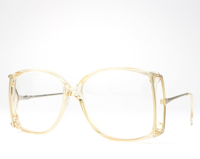 1980s Glasses | 80s Vintage Eyeglasses | Oversized Glasses Frames | Eighties Deadstock Eyewear - Kelsey Mist