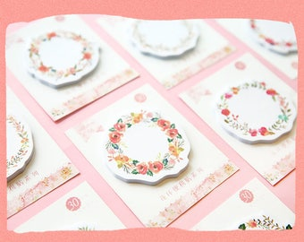 Floral Wreath Sticky Note Pads Post-its