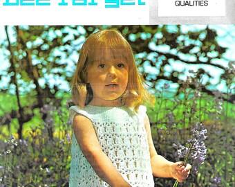 LISTER Lee Target C980 Baby/Child's Dress Vintage Crochet Pattern PDF Instant Download