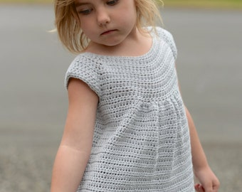 CROCHET PATTERN-The Swaleigh Top (2/3, 4/5, 6/7, 8/9, 10/11, 12/13, 14/16, Small, Medium and Large sizes)