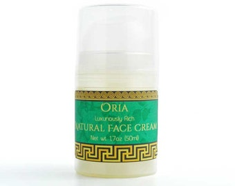 Natural Face Cream by Oria, 1.7oz, face cream, chamomile cream, moisturizing cream, dry skin cream, face moisturizer, day cream, skincare