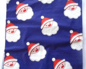 20 Christmas - Santa Claus - paper napkins REF.   3451