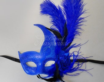 Masquerade Mask for Women, Feather Masquerade Mask, Mardi Gras Mask, Mardi Gras Masks, Masquerade Ball, Wedding Mask