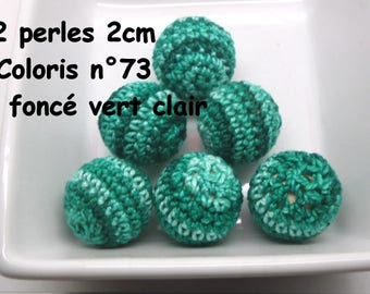 2 beads 20mm crochet 73 colors